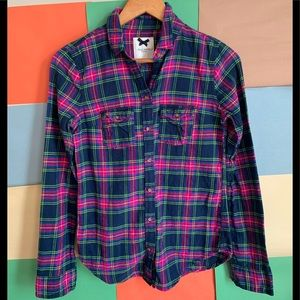 Gilly Hicks Sydney Plaid Flannel Button Down Shirt